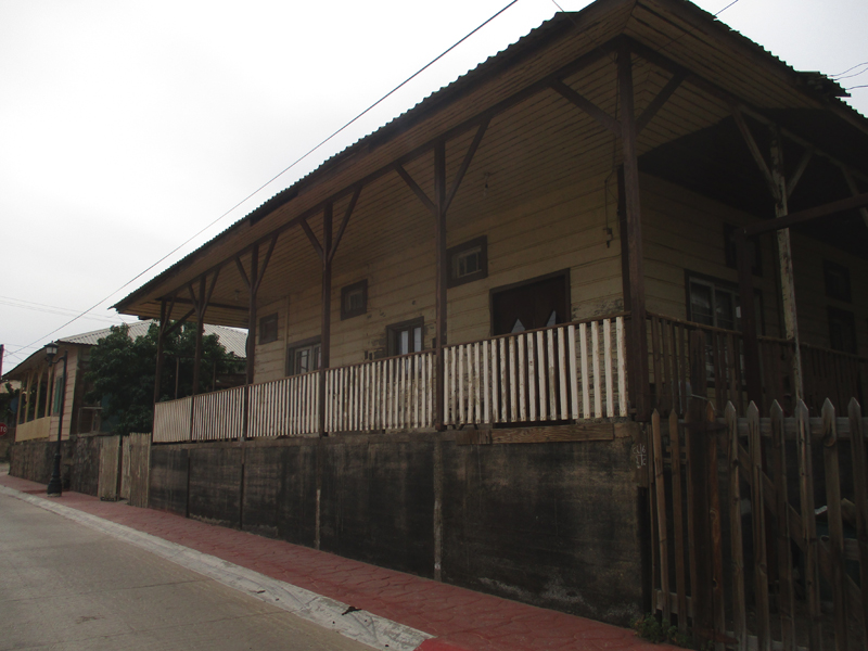 Wooden building in Santa Rosalía, Mexico