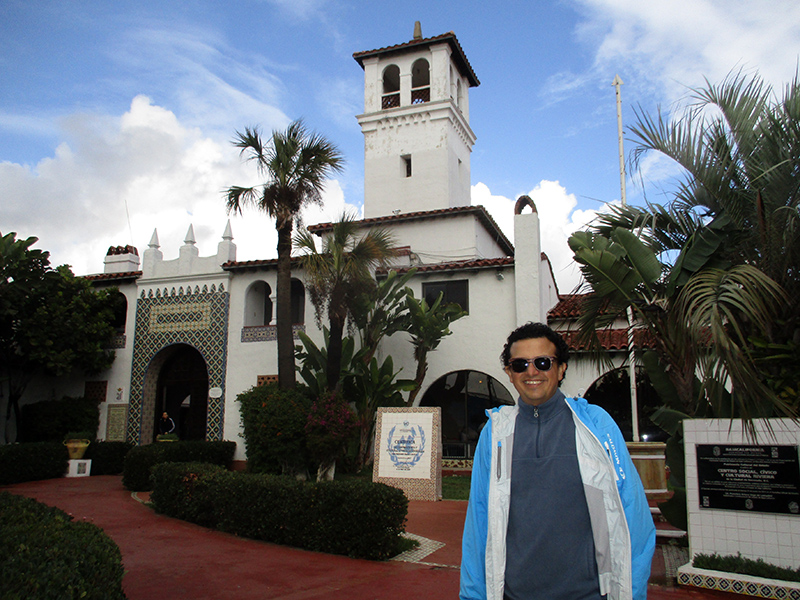 Hector at the Ensenada Social, Civic and Cultural Center