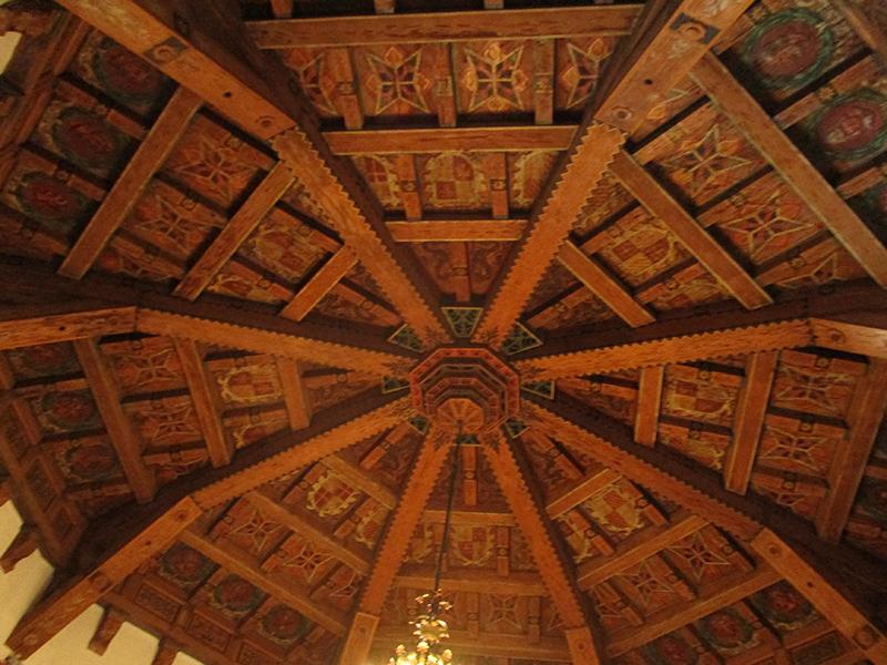 Moroccan-style ceiling in Ensenada's Hotel Riviera del Pacífico