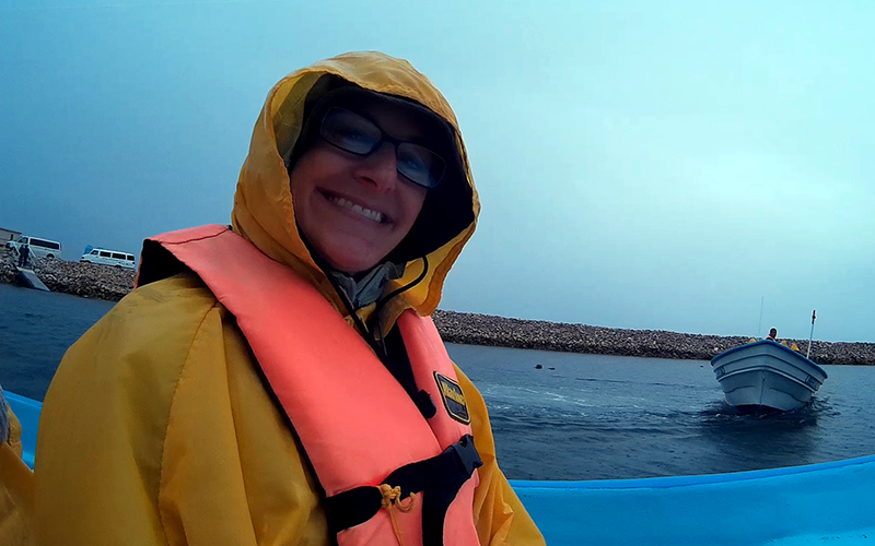 Christi ready for whale-watching in Guerrero Negro