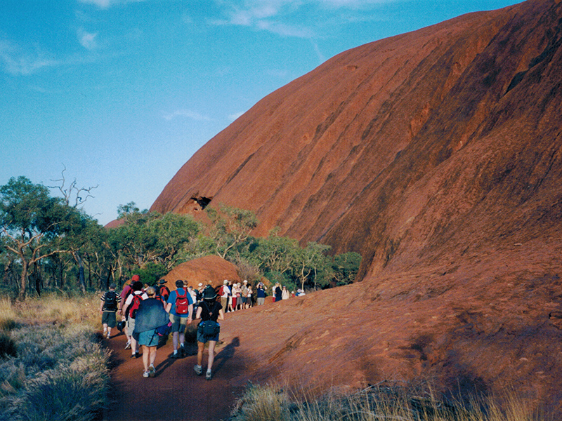 Sunrise hike at Uluru