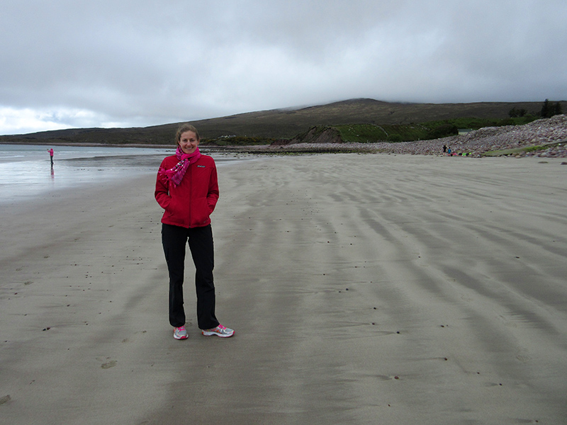 Christi on an Achill Island beach
