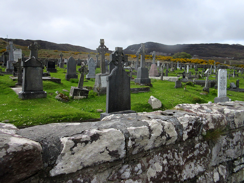Kildownet New Cemetery on Ireland's Achill Island