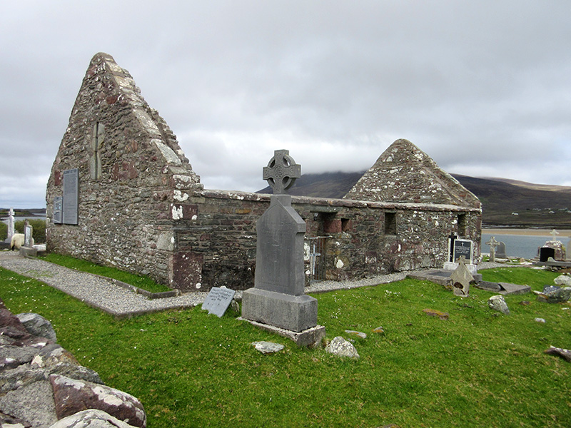 Kildownet Old Cemetery on Ireland's Achill Island