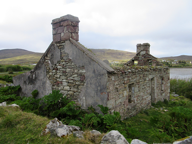 Ruins of a cottage on Ireland's Achill Island