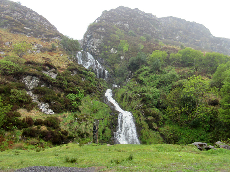 Assaranca Waterfall in County Donegal, Ireland