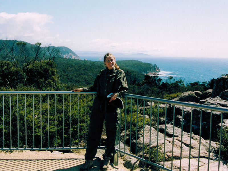 Christi at Tasmania's Cape Touville