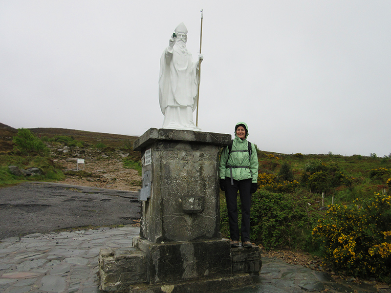 Christi at the base of Croagh Patrick in Ireland