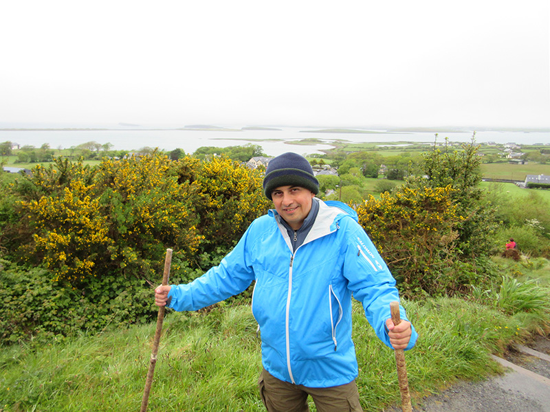 Hector at the base of Croagh Patrick in Ireland