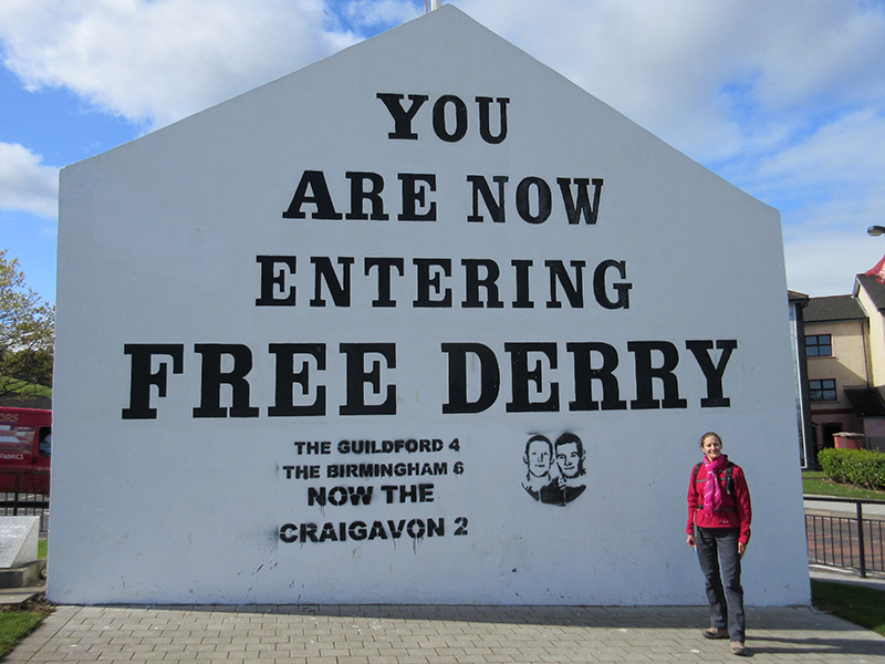 Christi at Free Derry Corner