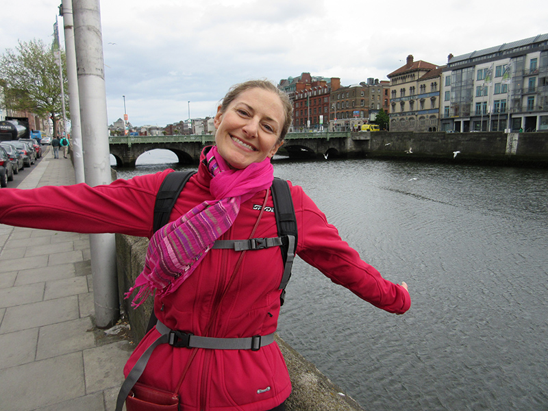 Christi in Dublin at the River Liffey