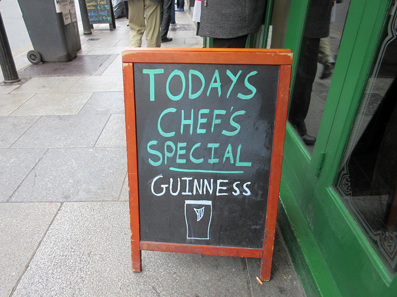 Dublin pub sign