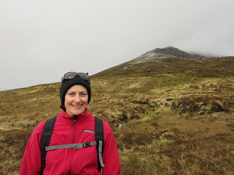Christi on the Mount Errigal trail in County Donegal, Ireland
