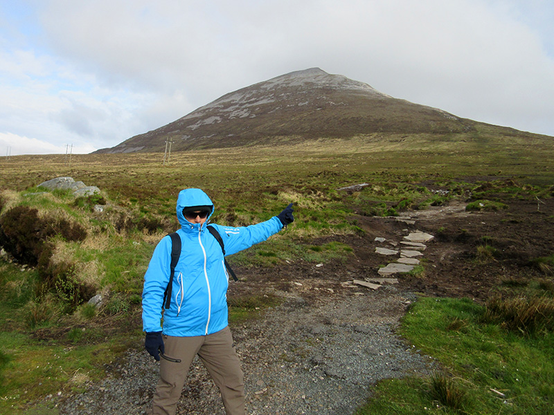 Hector at the start of the Mount Errigal trail in County Donegal, Ireland
