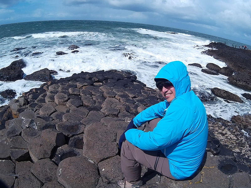 Hector at the Giant's Causeway in Northern Ireland