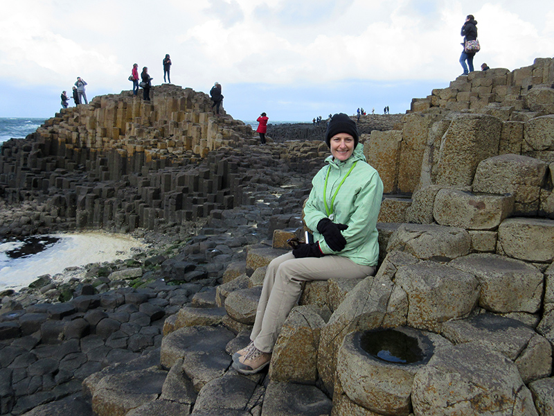 Christi at the Giant's Causeway in Northern Ireland
