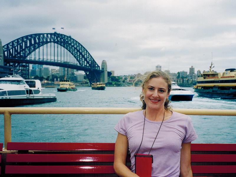 Christi near the Sydney Harbour Bridge