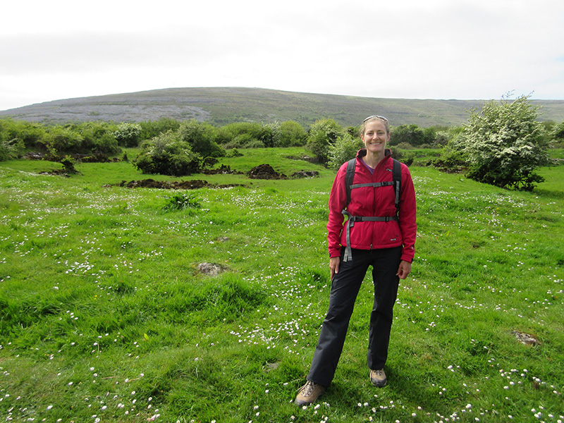 Christi at the Burren on Ireland's Galway Bay