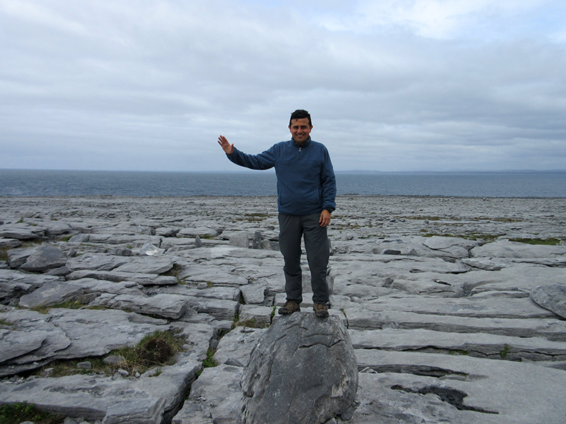 Hector at the Burren on Ireland's Galway Bay
