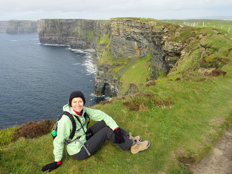 Christi at the Cliffs of Moher