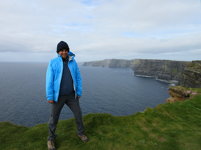 Hector at the Cliffs of Moher
