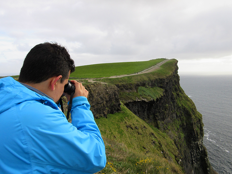Hector birding at the Cliffs of Moher