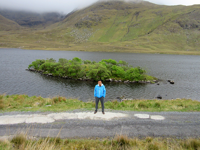 Hector in Ireland's Doo Lough valley
