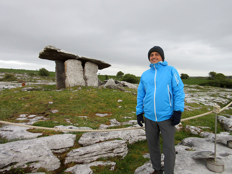 Hector at Poulnabrone Dolmen in Ireland's County Clare