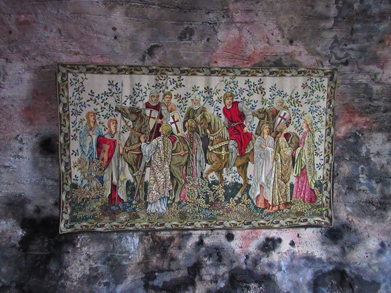 Tapestry at Dunguaire Castle near Kinvarra, Ireland