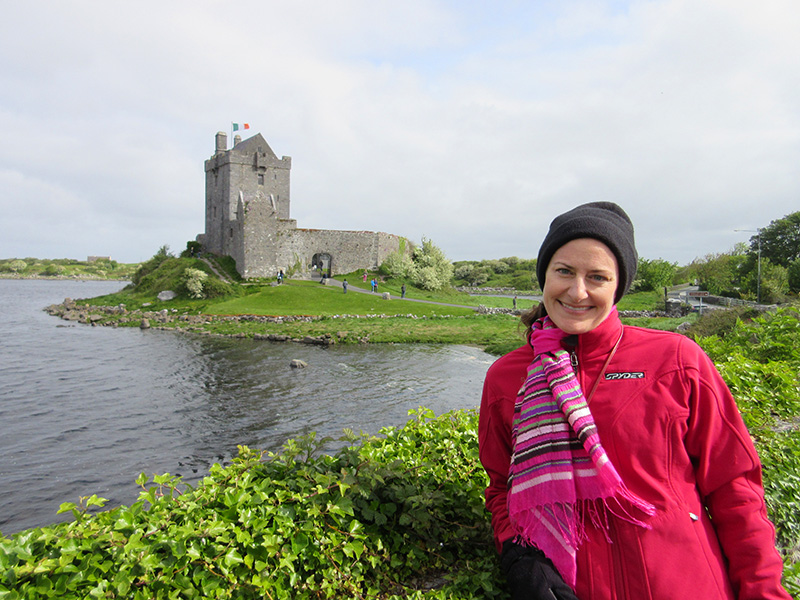 Christi at Dunguaire Castle near Kinvarra, Ireland