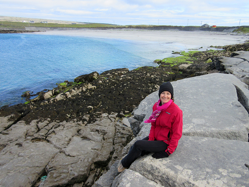 Christi near Kilmurvey Beach on the Aran Island of Inishmore