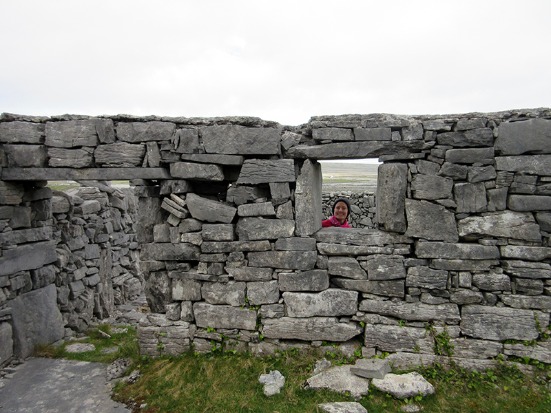 Christi at Dún Aenghus on Inishmore