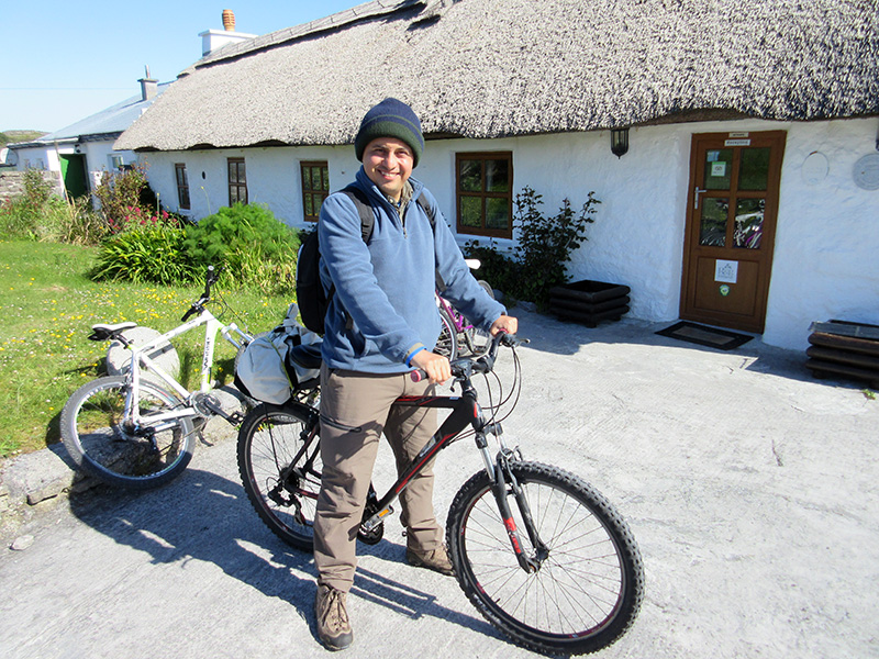 Hector at the Man of Aran Cottages on Inishmore