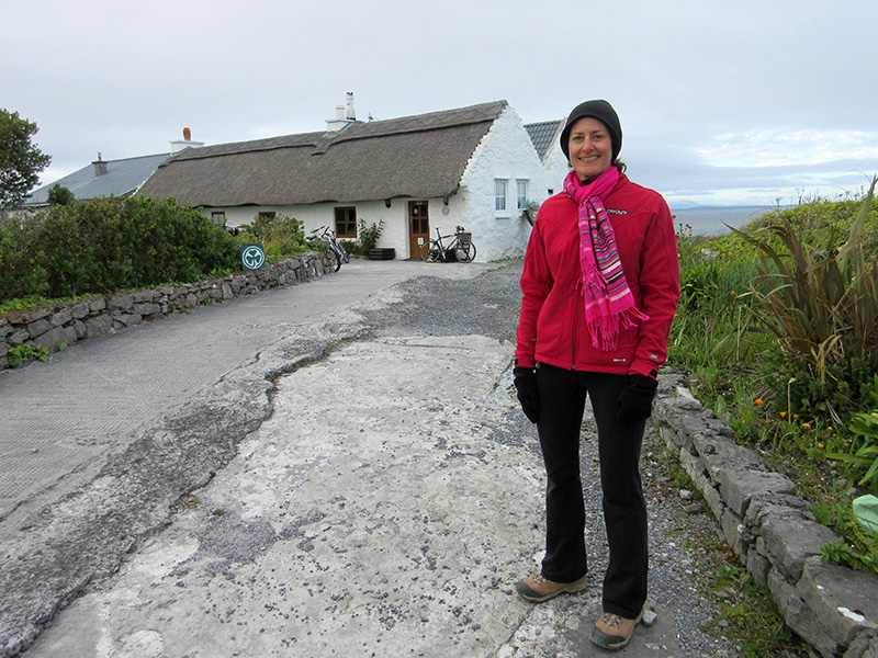 Christi at the Man of Aran Cottages on Inishmore