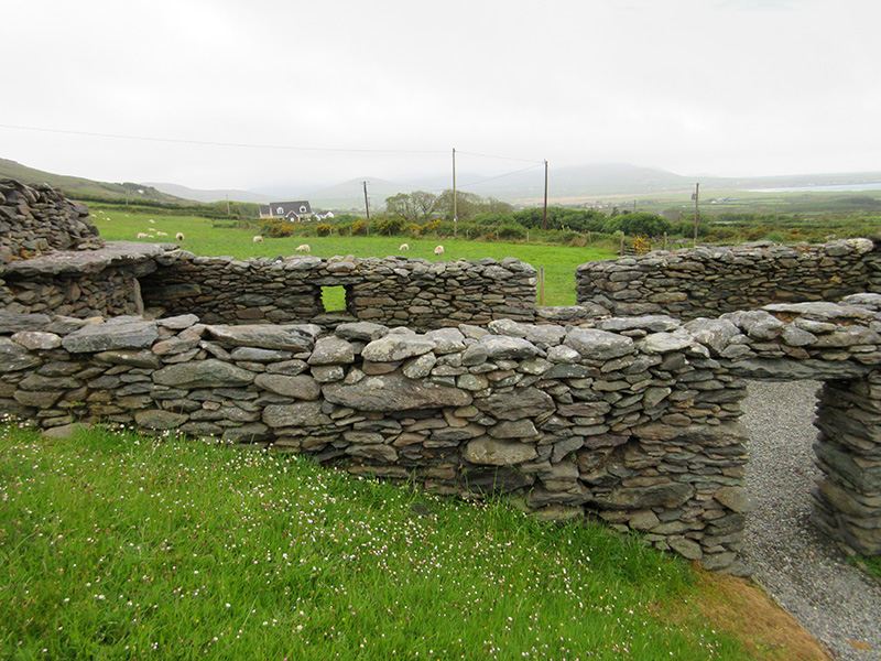 Ring fort on Ireland's Dingle Peninsula