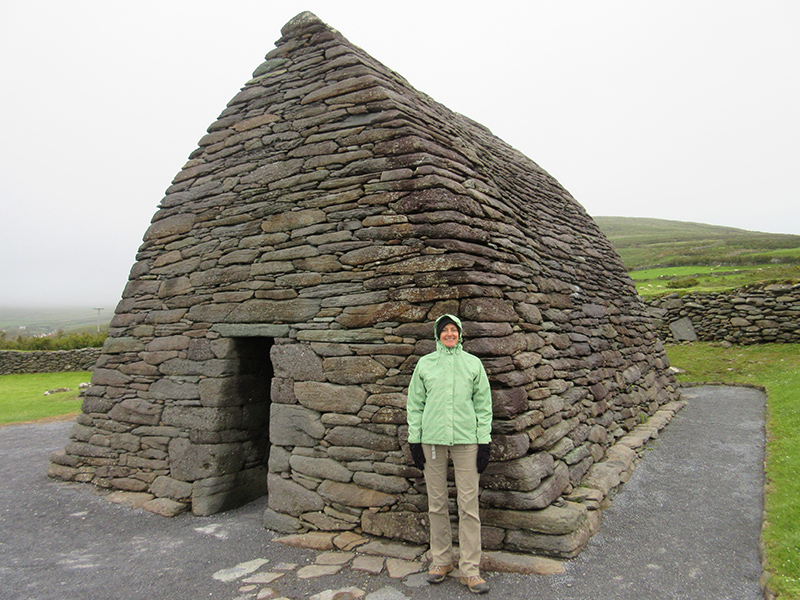 Christi at the Gallarus Oratory on the Dingle Peninsula