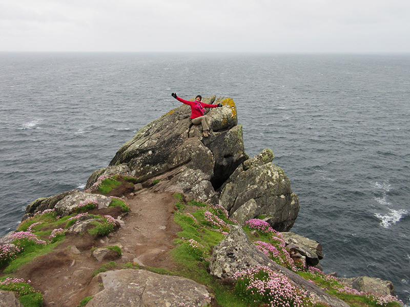 Christi at Slea Head on Ireland's Dingle Peninsula