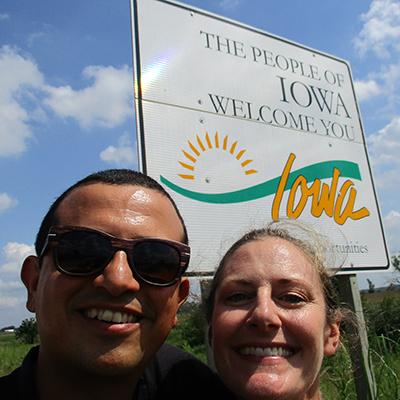 Hector & Christi in Iowa