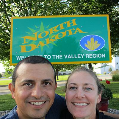 Hector & Christi in North Dakota