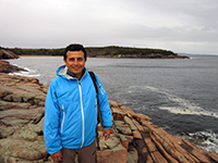 Hector in Acadia National Park