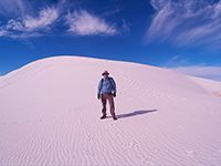 Hector in White Sands National Monument