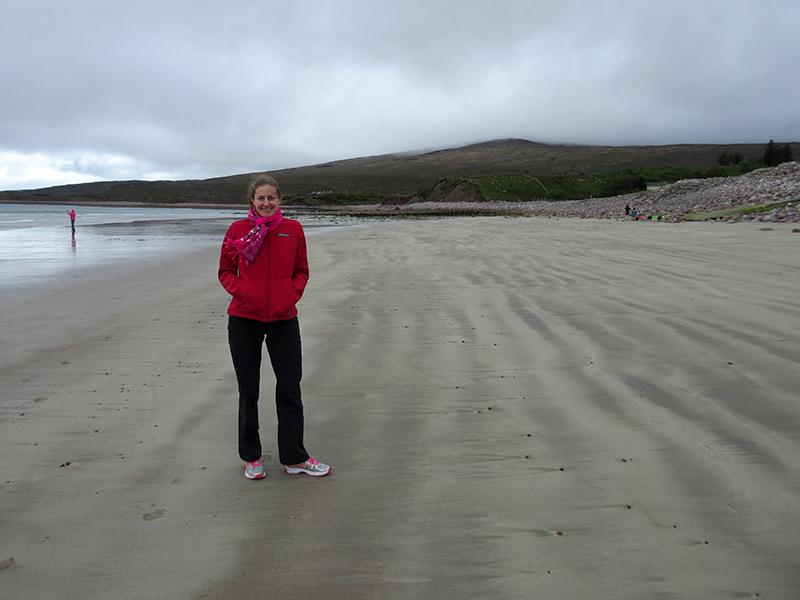Christi on an Achill Island beach