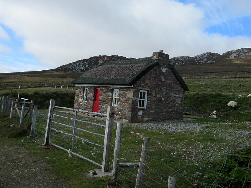 Present-day cottage on Ireland's Achill Island